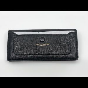 Marc Jacobs pebbled leather continental wallet